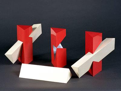 Drei Durchdringungsphänomene von zwei dreiseitigen Prismen