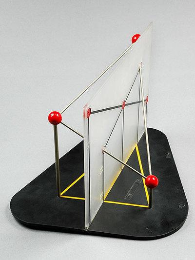 Konstruktion des Schnittpunktes von Ebene und Gerade