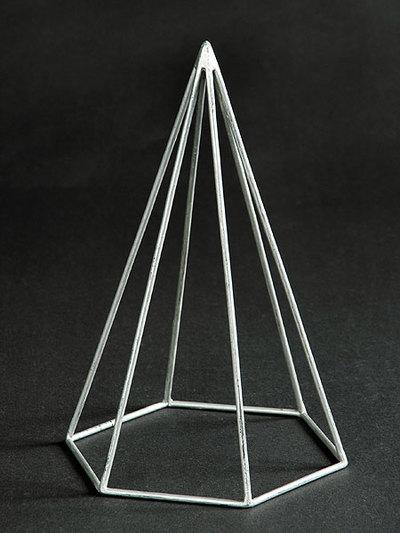 gerade Sechseckpyramide (Kantenmodell)