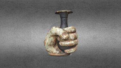 Greek, hand-vase clasping a lekythos, HCM 233