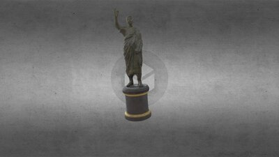 Roman, Bronze Statue of a Male Figure, HCM 155