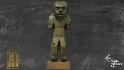 Polished green stone, Olmec Man, L 003