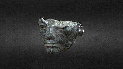 Egyptian Head in Basalt, TB 003