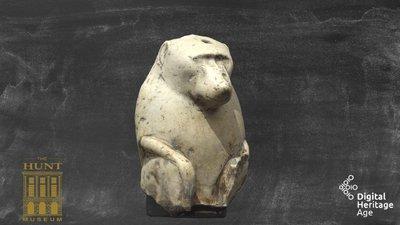 Limestone Statue of a Baboon, MG 005