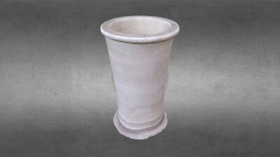 Egyptian Travertine, Cylindrical Jar, DG 100