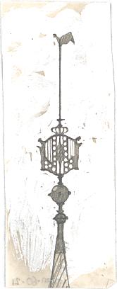 Rosenbauer, Gregor; Neumünster bei Kiel; Ev. Kirche - Turmspitze mit Hahn und Ornamentik (Detail)
