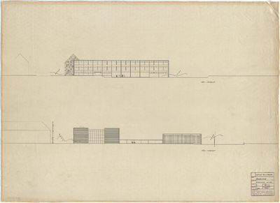 Schneider - Esleben, Paul; Düsseldorf, Rolandstr. 40; Rolandschule - Ansicht von Osten und Süden