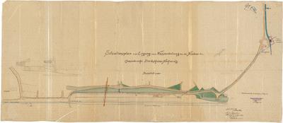 Billing, Hermann; Diedesheim - Neckarelz (Baden-Württemberg); Portland - Zementwerke - Wasserleitung, Neubau (Lageplan)