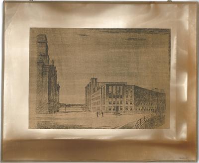 Billing, Hermann; Berlin; Reichstagsgebäude, Erweiterung - Außenansicht (Perspektive)
