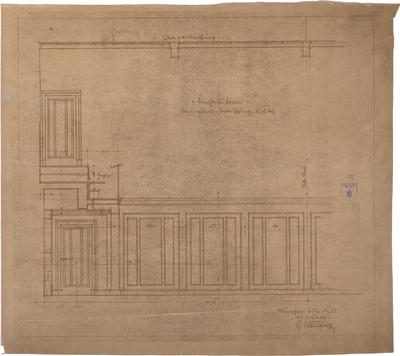 Bestelmeyer, German; Bonn (Nordrhein-Westfalen), Mühlheimerplatz; Verwaltungsgebäude - Mappe 3: Sitzungssaal (Wandabwicklung)