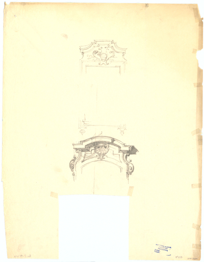 Thiersch, Friedrich von; München; Justizpalast - Fensterbekrönungen (Perspektiven, Detail)