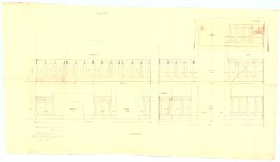 Thiersch, Friedrich von; München; Ausstellung München 1908, Firma Barth und Co. - Wandvertäfelung (Ansicht)