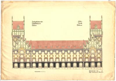 Thiersch, Friedrich von; München; Neues Justizgebäude - Ansicht