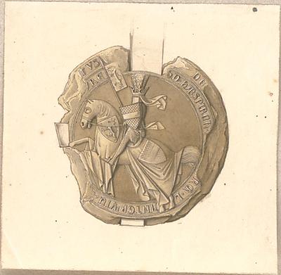 Hoffstadt, Friedrich; Kassette 5: Mappe XII.4, Siegel und Münzen (1363-1403) - Ansicht