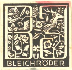 Adler, Friedrich; Exlibris Bleichröder - Ansicht