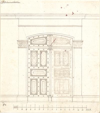Gärtner, Friedrich von; München; Max - Josef - Stift, Adeliges Erziehungs - Institut - Tür (Ansicht)