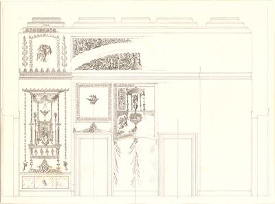 Gärtner, Friedrich von; Athen (Griechenland); Königliche Residenz (Athener Schloss) - Wanddekoration (Teilansicht)