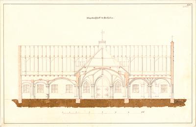 Gärtner, Friedrich von; München; Bockkeller - Bockhallen (Längsschnitt)