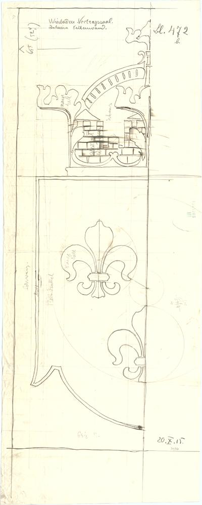 Fischer, Theodor; Wiesbaden; Museum - Seitenwand - Intarsien (Details)
