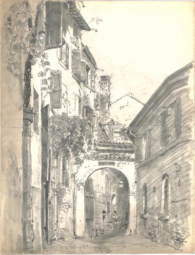Bauernfeind, Gustav; Italien; Österreich; Schweiz; Studien- und Reiseskizzen - Stadt (Perspektive)