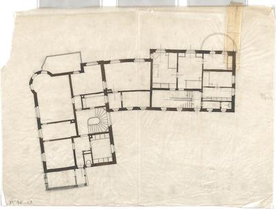 Littmann, Max; Bocksberg; Hofgut - Grundriss