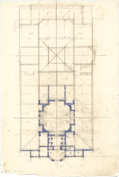 Pfann, Paul; Nürnberg; Landesausstellung 1906, Kunstausstellungsgebäude - Grundriss