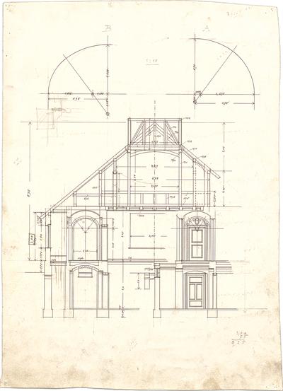 Pfann, Paul; Planegg bei München (Bayern); Landhaus Pudor - Schnitt