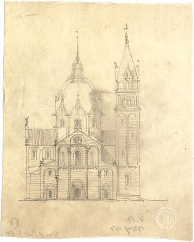 Schmidt, Heinrich von; München; St. Maximilian - Variante zum Campaniletyp (Ansicht)
