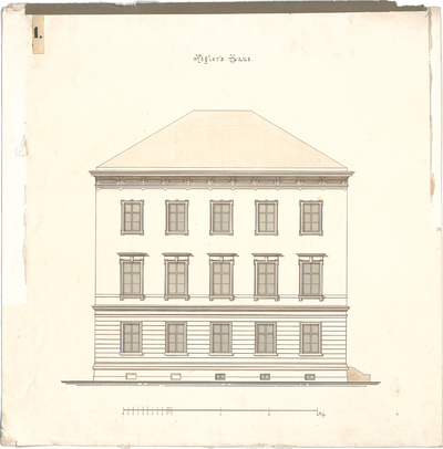 Stegmann, Carl von; Kögler´s Haus - Aufriss