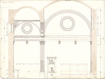 Stegmann, Carl von; Zeichnungen für Publikationen - Schnitt