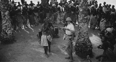 André Didier recording Ewo musicians (Middle-Congo)