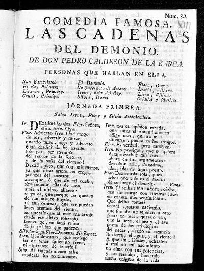 Las cadenas del demonio / de Pedro Calderón de la Barca