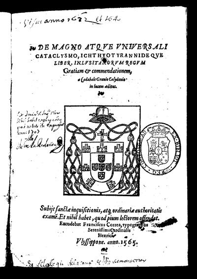 De magno atque universali cataclysmo / a Cadabale Gravio Calidonio in lucem aeditus