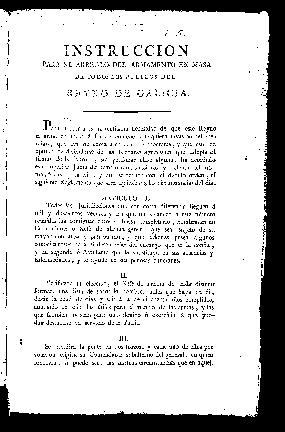 Instrucción para el arreglo del armamento en masa de todos los pueblos del Reyno de Galicia / Superior Junta de armamento, subsidios y defensa