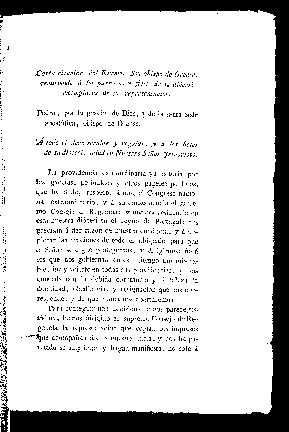 Carta circular del Excmo. Sr. Obispo de Orense, remitiendo á los párrocos y fieles de su diócesi exemplares de su representacion : Pedro ... Obispo de Orense, a todo el clero secular y regular y á los fieles de su diócesi ...