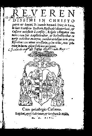 Ioannis Bernardi Diaz de Luco ... Regulae octingentae numero : cum suis ampliationibus et restrictionibus ex variis codicibus excerptae
