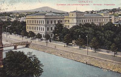 Sarajevo. Gymnasium und Lehrerbildungsanstalt. Gimnazija i Preparandija