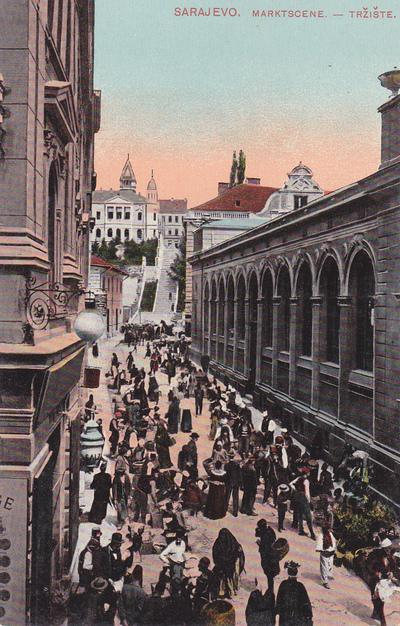 Sarajevo. Marktscene - Tržište