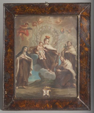 La Virgen del Carmen impone la casulla a San Simón Stock