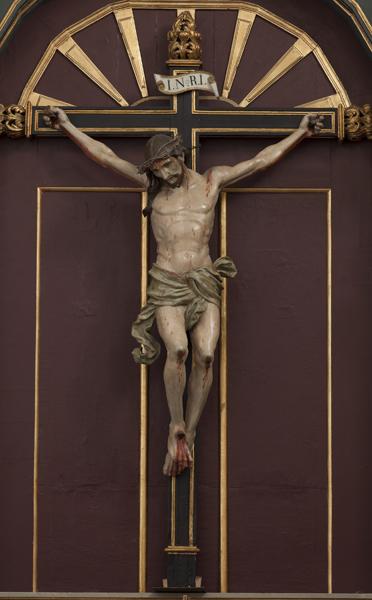 Talla del Stamo. Cristo de los Milagros. S.XVII, En frontal del retablo
