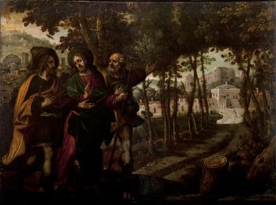 Jesús con los discípulos de Emaus.