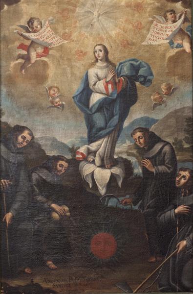Inmaculada con franciscanos hortelanos.