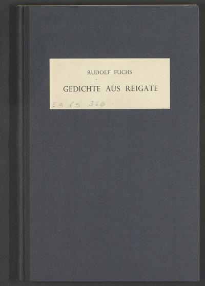 Gedichte aus Reigate