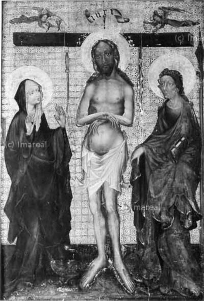 Schmerzensmann mit Hl. Maria und Hl. Johannes Evangelist