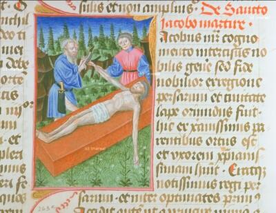 Hl. Jakobus minor wird verstümmelt