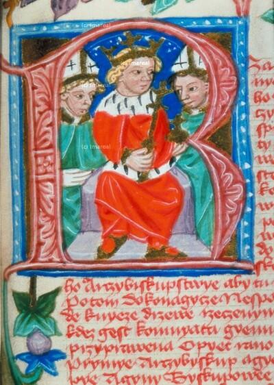 Karl IV. mit Bischöfen