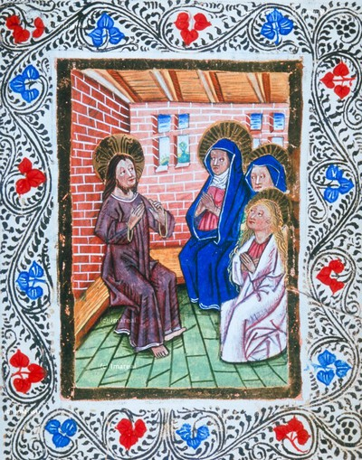 Christus bei Hl. Maria und Hl. Martha