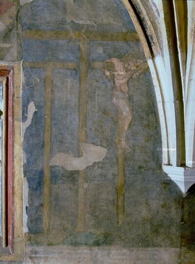 Golgotahügel mit drei Kreuzen