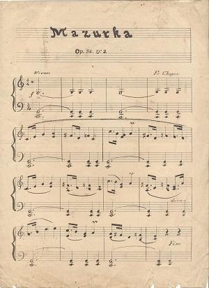 Mazurka: Op. 56. n.º 2