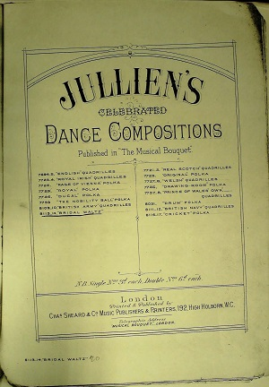 Hermilie or The Bridal Valse: Dance composotions
